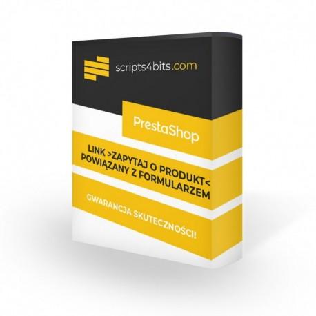 Link -Zapytaj O Produkt- na karcie produktu powiązany z formularzem