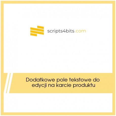 Dodatkowe pole tekstowe na karcie produktu (edytowalne) z dowolnainfromacją